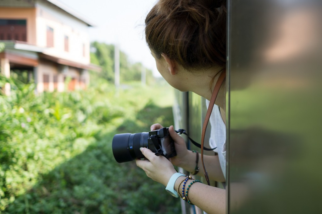 A trained through the outskirt villages around bangkok give's you another great opportunity to take some unique travel shots.