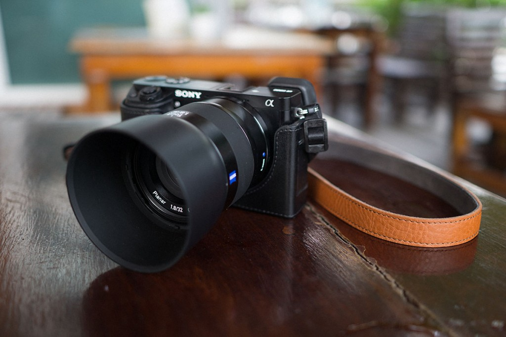The Zeiss Touit 1.8/32mm on the Sony a6000. All of the lenses feature the same streamlined aesthetics making them a perfect match for sony's capable mirrorless camera.