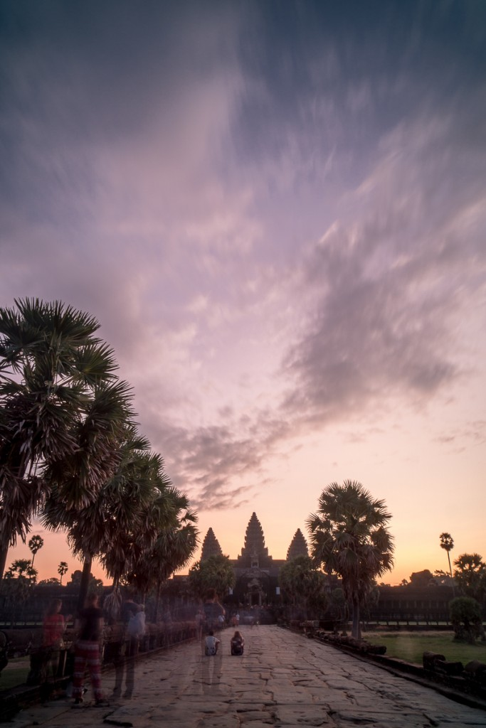 Sunrise behind Angkor Wat, with tourist ghosts all over the place! Alexander Waetzel, Sony a6000, Sony 2.8/16mm.
