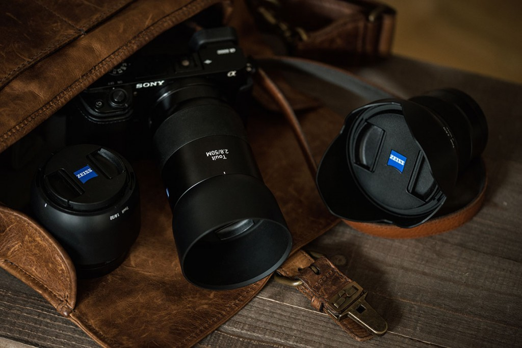 The zeiss family, with this 3 lens set-up I had every focal length with me.