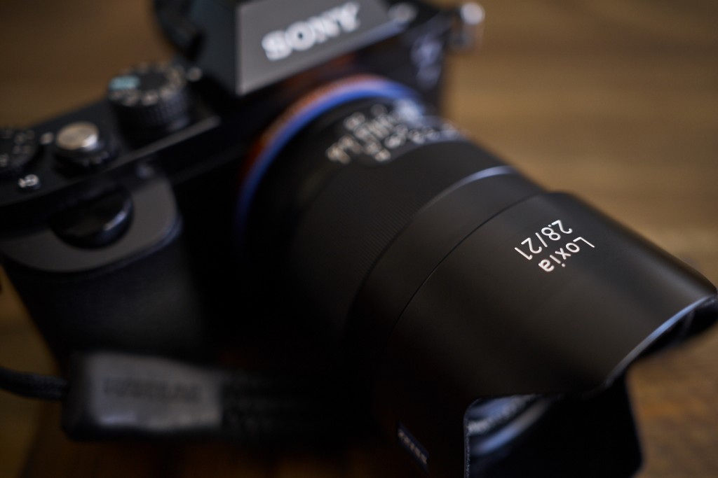 The lens coupled with my A7. It is quite a nice compact setup even though it is a little heavier then you'd expect.
